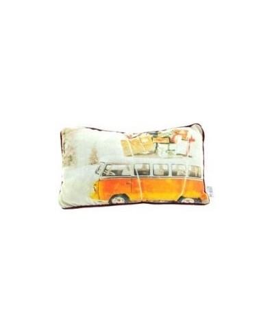 Kussen Volkswagen bus 50 x 30 cm oranje